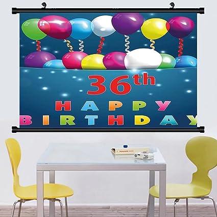 Amazon Gzhihine Wall Scroll 36th Birthday Decorations Birthday