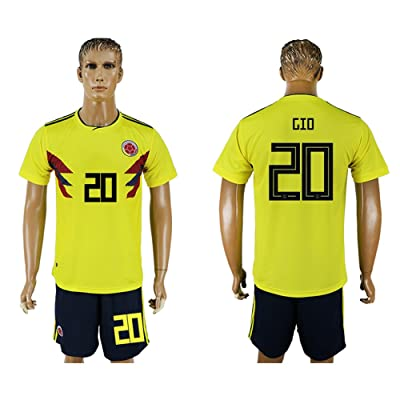 2018 World Cup Colombia National Team #20 Soccer Jersey