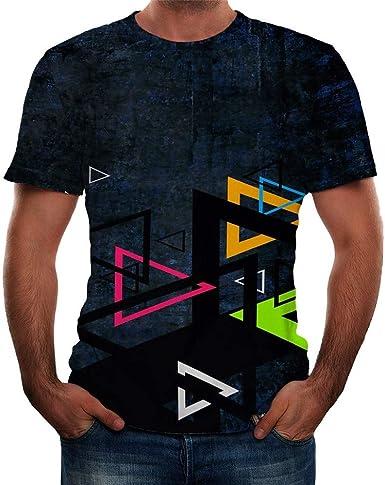 Camisetas Basicas Hombre Camisetas de Manga Corta Impresa 3D para Hombre Camisetas de Manga Corta Estampada para Hombre Camisetas Hombre Originales Camiseta Casual de los Hombres: Amazon.es: Ropa y accesorios