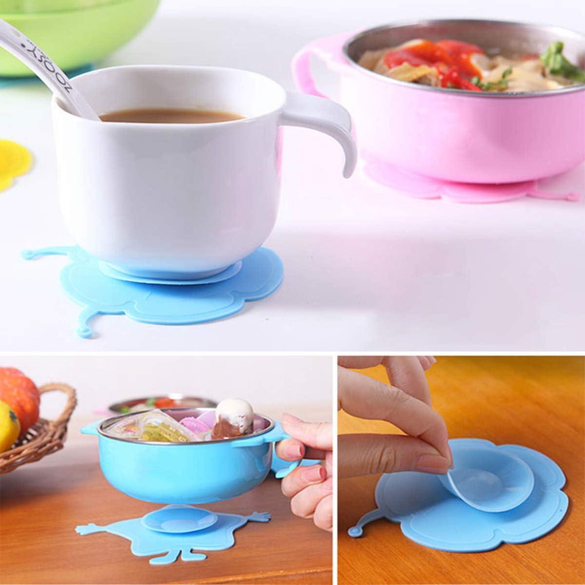 escargot bleu et fleur bleue BESTONZON 2 pcs b/éb/é bol ventouse tapis daspiration pour enfants en bas /âge enfants de la vaisselle ventouse ventouse double face