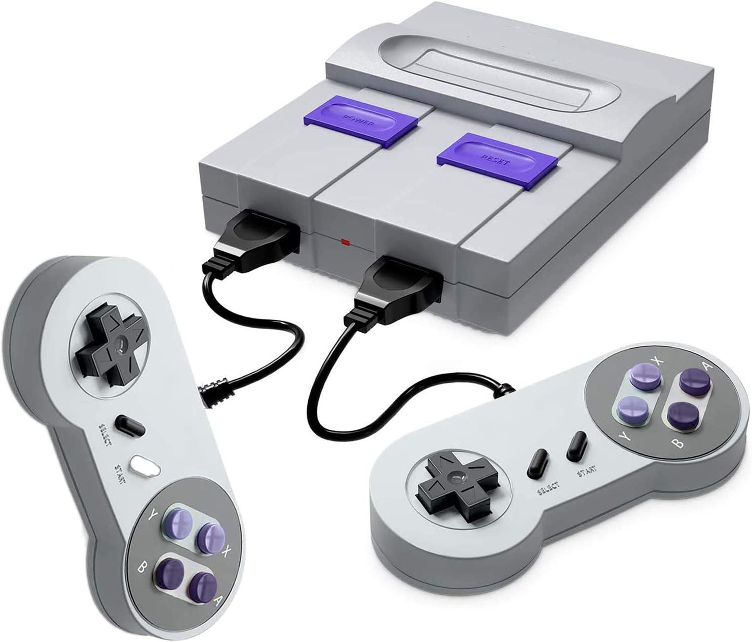 Retro Game Console- Handheld Video Game Console Classic Built-in 821 Games(Original SNES Style)with Controllers, Super Mini TV Classic Video Gaming Console Plug&Play HDMI HD Player for Kid, Adult Gift