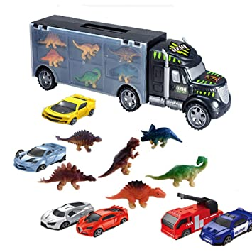Amazon.com: Uizbeer Dinosaurio coche de transporte para ...