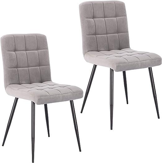 Lestarain 2 Stücke Esszimmerstühle,Samtstuhl Küchenstuhl