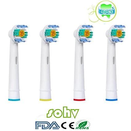 SOHV® estándar de repuesto cabezales de cepillo Compatible con Cepillo de dientes eléctrico Oral B