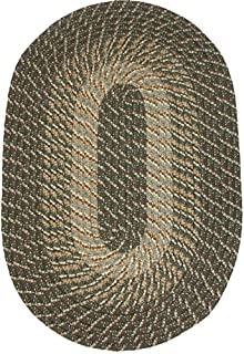 """product image for Constitution Rugs Plymouth 24"""" x 60"""" (Runner) Braided Rug in Ponderosa Pine (Medium/Dark Olive Tones)"""