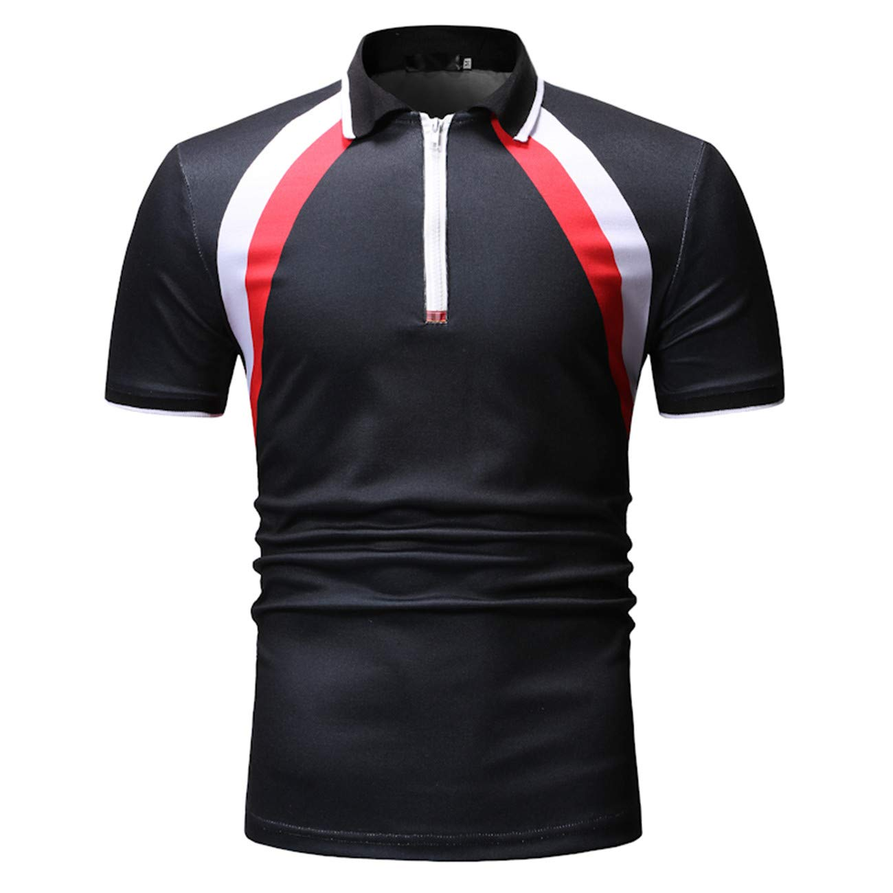 Mens Short-Sleeved Floral Printed Leisure and Fashion Polo Shirt