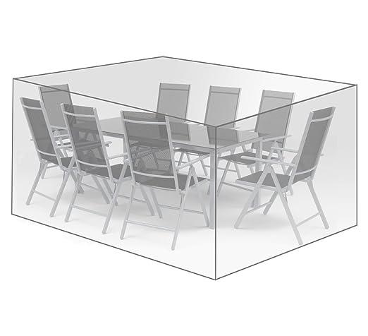 WOLTU Funda para Muebles de Jardín Cubierta Protectora Exterior de Polvo para Mesa contra Viento Lluvia Sol Protección UV Impermeable 250x210x90cm ...