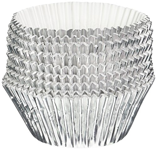 Oasis Supply Baking Cups, Jumbo, 100-Count, Silver Foil