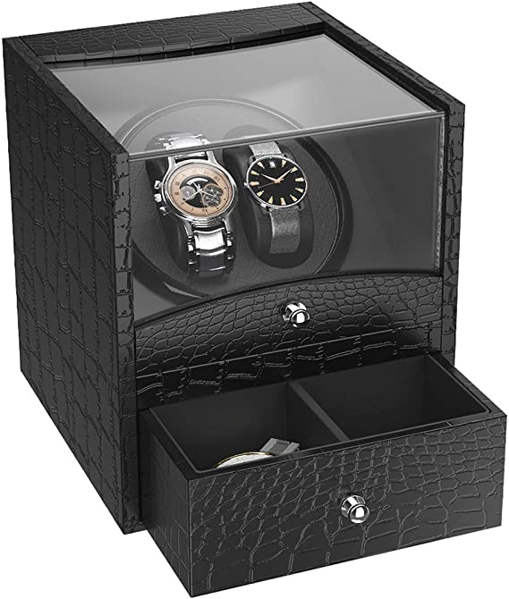 CRITIRON Watch Winder 1 + 1, Caja Giratora Automáticos, Caja para ...