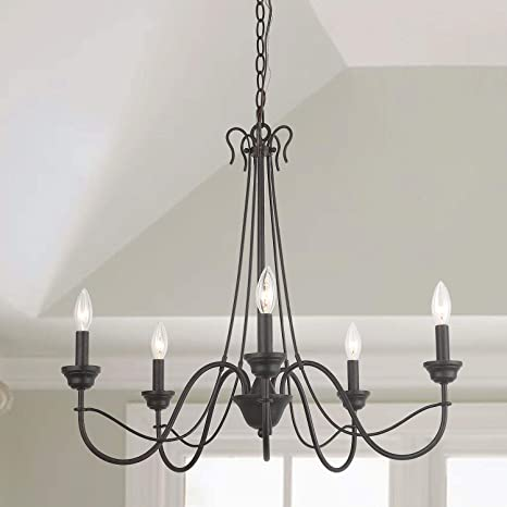 size 40 d385c 023c4 LOG BARN 5 Lights French Country Shabby Chic Chandelier in Brown Rust Metal  Finish, 26.8