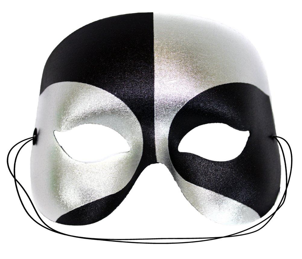 Masquerade Black-Silver Masquerade Mask for Men