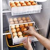 NEWFORCE 30 Grid Single Layer Egg Holder for Refrigerator, BPA Free Egg Storage Container for Fridge, Household Egg Organizer