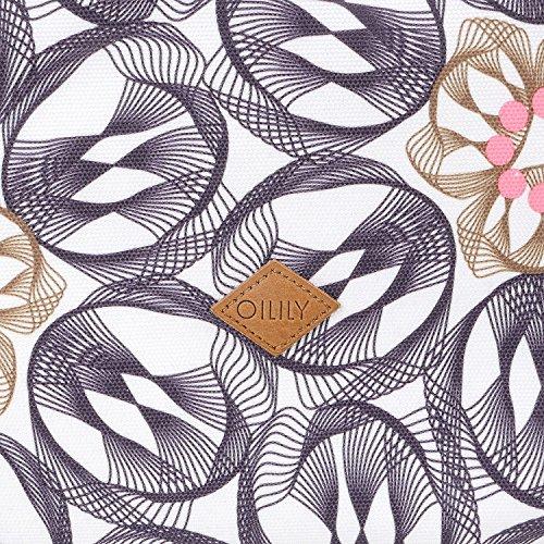 Oilily Oilily Carry All - Borse a spalla Donna, Grau (Charcoal), 17x27x36 cm (B x H T)