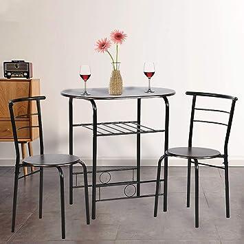 the best attitude b818f 2ec55 Amazon.com - Dining Kitchen Table Dining Set,3 Piece Metal ...