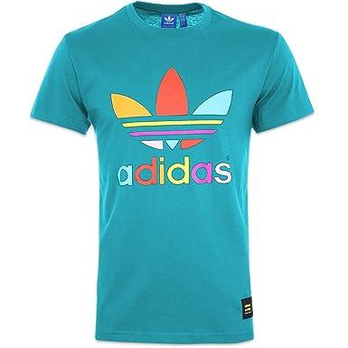d04796cac242e Adidas Pharrell Williams Supercolor T Shirt - Blue - M: Amazon.co.uk ...