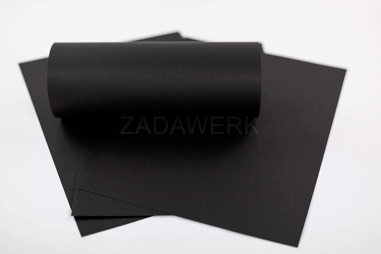 ZADAWERK/® Papel de construcci/ón 50 piezas A3 negro 150 g//m/² papel seda