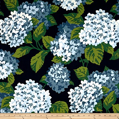 Magnolia Home Fashions Summer Wind Canvas Fabric, Navy, Fabric By The Yard (Home Magnolia Fabrics)