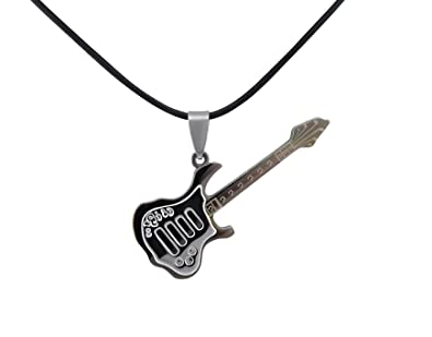 Hanessa para mujer para hombre-joyería cuello-cadena guitarra eléctrica Regalo para músicos música ávidos: Amazon.es: Joyería