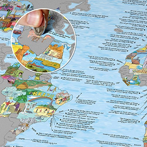 Bucket list world map scratch edition buy online in uae bucket list world map scratch edition buy online in uae office product products in the uae see prices reviews and free delivery in dubai gumiabroncs Choice Image