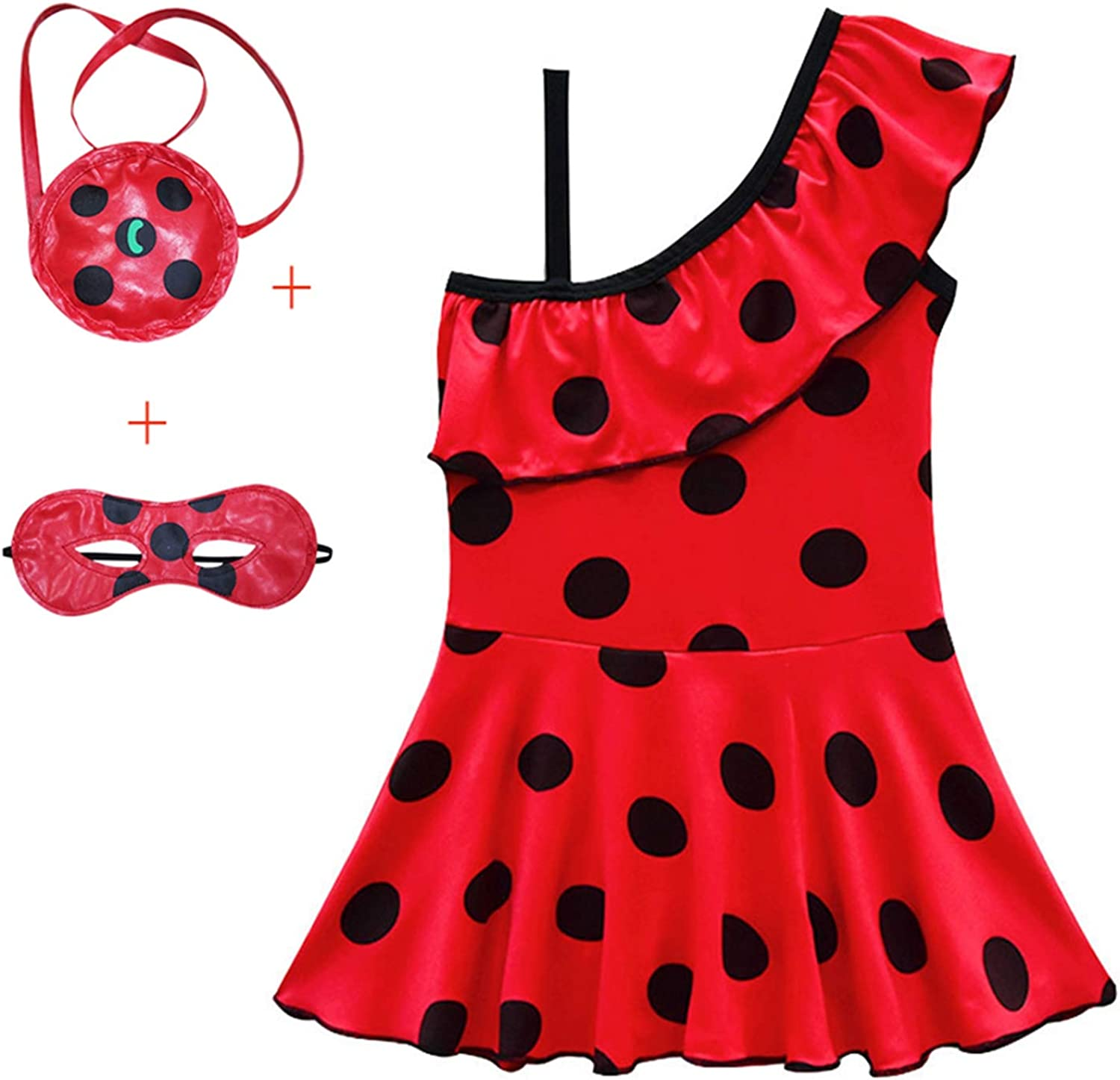 Swimwear Girls 2019 Ladybug Kids Bathing Suits One Piece Swim Suit Baby Bikini Children Swim-Wear Printed Mask Bag LOL Beachwear
