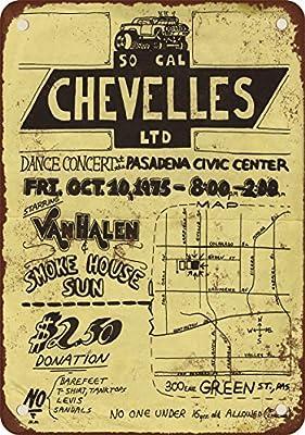 1975 Van Halen in Pasadena Vintage Look Reproduction Metal Tin Sign 12X18 Inches