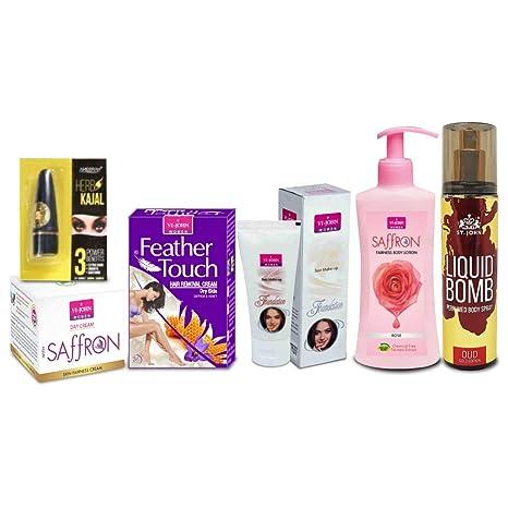 2da43c27e4954 VI-JOHN Women Beauty Gift Set (Hair Remover Honey Saffron   Saffron Advance