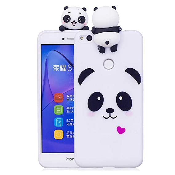 Amazon.com: Huawei P8 Lite 2017 Case, Silicone Slim Cute 3D ...