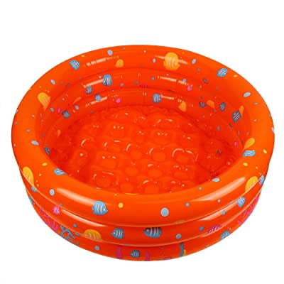 Inflatable Swimming Pool, Swim Center Inflatable Pool Pig Ball Pool Water Play Fun in Summer Quick Set Inflatable Above Ground Pool for Kids (Orange): Sports & Outdoors