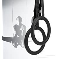 Gymnastic Rings with Adjustable Buckle Straps Pull up Fitness Exercise Rings Non-Slip Textured Training Sports for Home Gym Full Body Workout Suspension Trainer for Man and Women Athlete