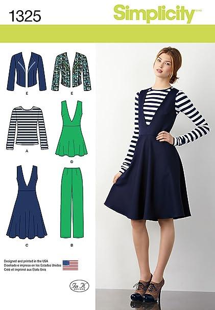 3acf2de2bf34 Amazon.com  Simplicity Pattern 1325 Misses Pants