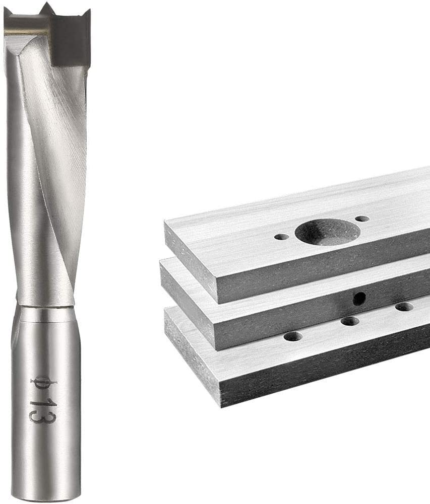 Brad Point drill bits for wood 13 mm x 68 mm Carbide left turn for carpentry Carpentry Drilling tool