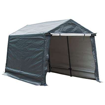 Abba Patio Storage Shelter 7 x 12- Feet Outdoor Shed Heavy Duty Canopy Grey  sc 1 st  Amazon.com & Amazon.com: Abba Patio Storage Shelter 7 x 12- Feet Outdoor Shed ...