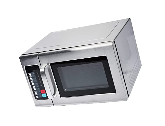 Amazon.com: Microwave Special Offer Stainless Steel Commercial Microwave with Push Button Control - 120V, 1200W Now on Sale Price (Stainless Steel, ...