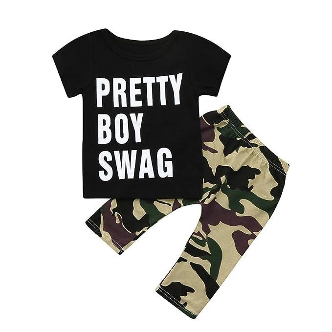 Amazon.com: STARON Baby Boy ropa verano divertido Pretty Boy ...