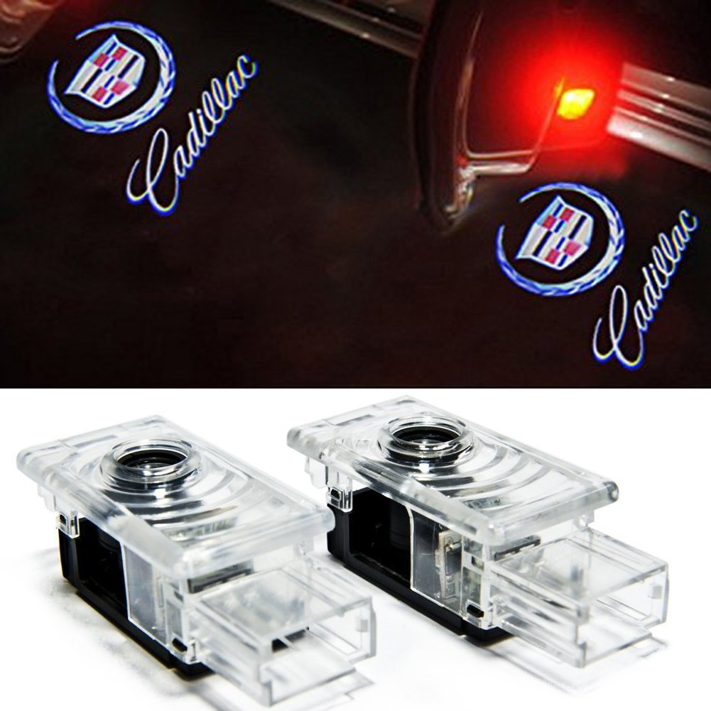 Grolish Cree Led 4 Piece Car Door Logo Projector Lights For Xts Wiring Harness Cadillac Srx Ats Md 4pc C Lighting Automotive Tibs