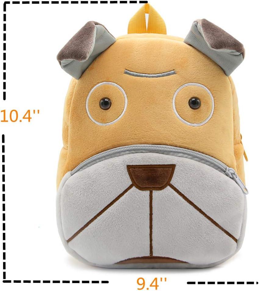 Nice Choice Cute Toddler Kids Backpack Toddler Bag Plush Animal Cartoon Mini Travel Bag for Baby Girl Boy Frog