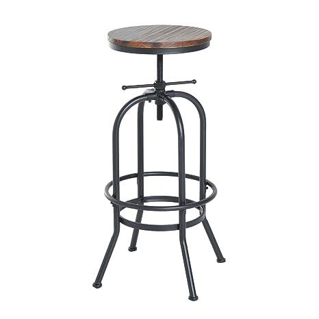 Miraculous Homcom Vintage Industrial Bar Stool Height Adjustable Swivel Frankydiablos Diy Chair Ideas Frankydiabloscom