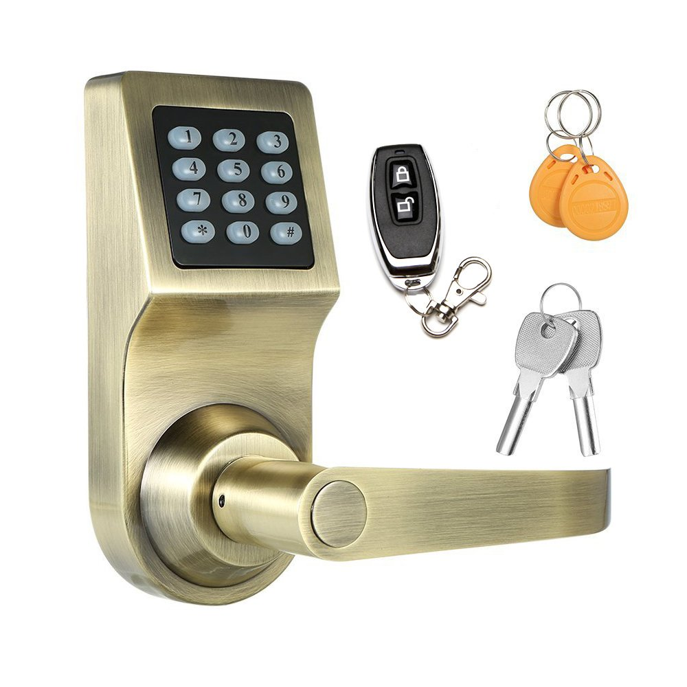 Keyless Electronic Digital Smart Door Lock Keypad Smartcode Gold Security Grant Control Access For Home