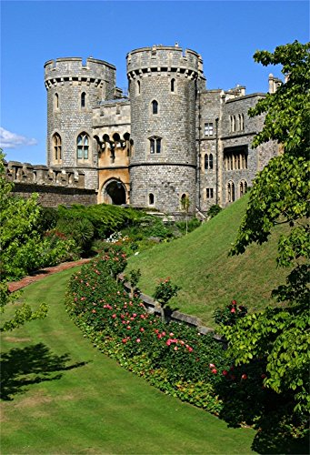 Laeacco Windsor Castle Background 5x7ft Photograpy Backdrop Studio Photo Shooting Props Oldest England Her Majesty Queen Elizabeth Residence Wedding Party Travel