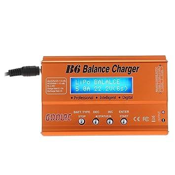 GoolRC Cargador del Balance /Descargador B6 Mini Multifuncional para RC Batería LiPo Lilon LiFe NiCd NiMH Pb