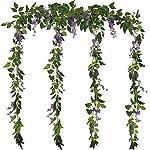 Grace-Florist-66Ft-Artificial-Flowers-Silk-Wisteria-Ivy-Vine-Rattan-Hanging-Flower-for-Wedding-Party-Home-Garden-Wall-Decoration