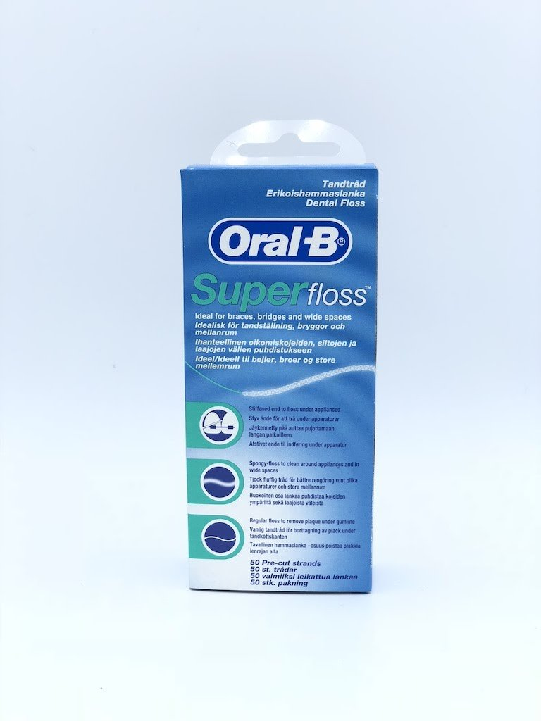 Oral-B Super Floss 50 Pieces Pre-Cut (Pack of 6) Groceries