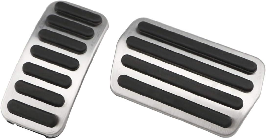 RUIYA XC40 P/édales de protection pour p/édales antid/érapantes Performance P/édalier acc/él/érateur P/édales de pied en aluminium pour voiture Argent