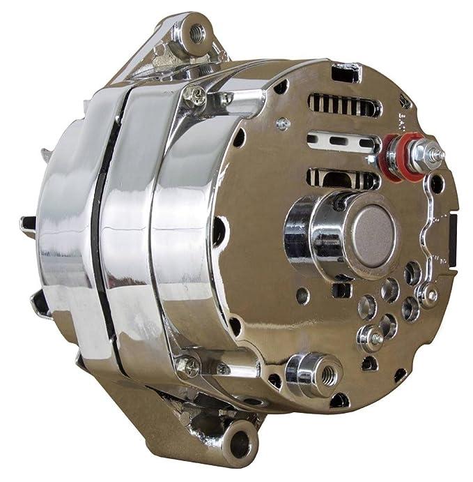 New chrom Chevy Lichtmaschine passend für 110 AMP 3-Draht- oder 1 ...