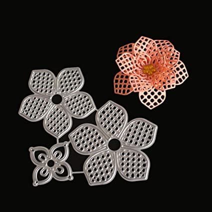 Amazon Com Flower Frame Die Flower Die Cuts For Card Making 3d