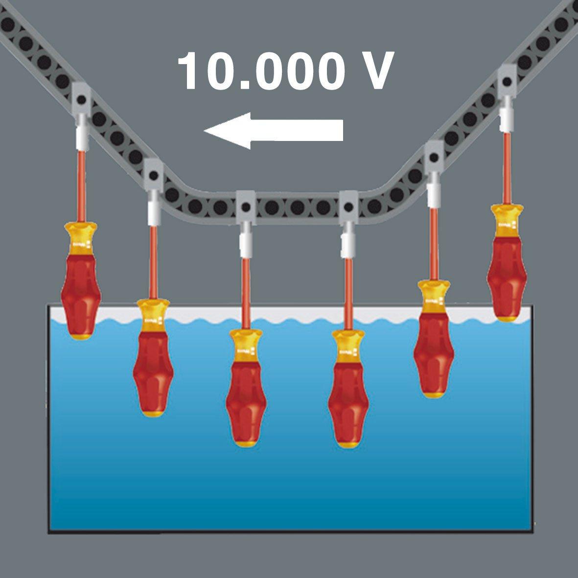 Wera 05031582001 1160 i VDE-isolierter Schlitz-Schraubendreher 0.6 x 3.5 x 100 mm