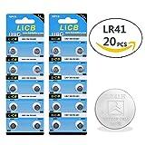 LiCB 20 Pack LR41 AG3 392 SR41SW Battery 1.5V Button Coin Cell Batteries