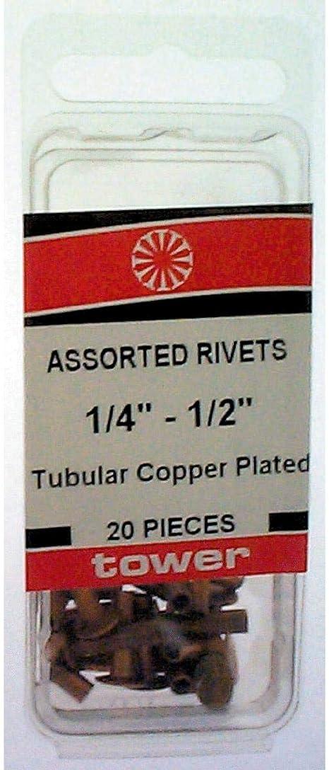 6 Pk Hillman 20 Piece Copper Steel Assorted Length Tubular Rivets 8007