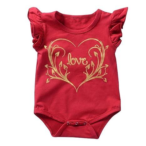 Conjunto de Bebé, ❤️Xinantime Mono sólido sin mangas para bebés niño Ropa de mameluco