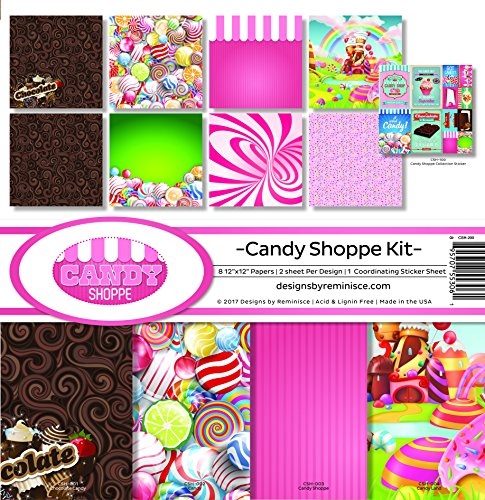 (Reminisce Candy Shoppe Scrapbook Collection Kit)